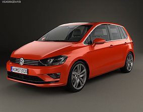 3D model Volkswagen Golf Sportsvan 2014