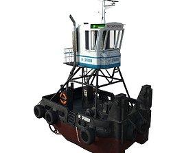 Truckable Push Boat 3D model VR / AR ready