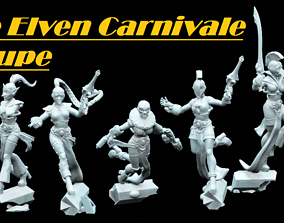 3D printable model The Elven Carnivale Troupe