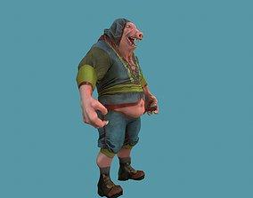 character monstr pig 3D model