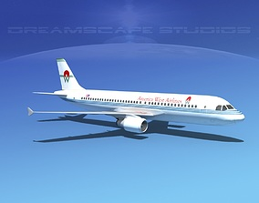 Airbus A320 LP America West Airlines 3D asset