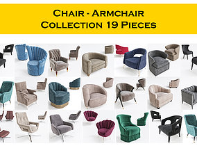 3D model Chair - Armchair Collection 19 Pieces