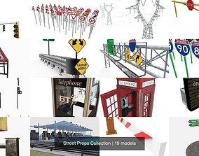 3D model Street Props Collection