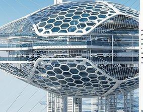 3D model Futuristic Architectural Structure 16 architecture
