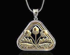 3D print model Closed Lotus pendant