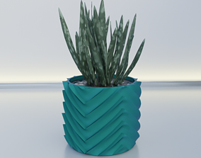pot planter 12 3D printable model