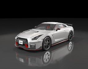 Low poly Nissan GT-R Nismo 2018 3D asset