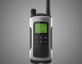 electronic Motorola Walkie Talkie 3D model