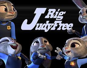 3D Judy Hopps Free Rig