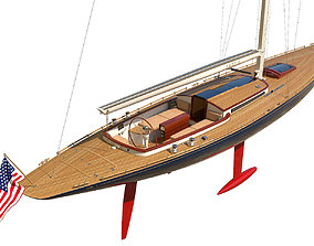 Leonardo Yacht Eagle 54 3D model vessel