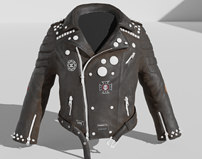 3D asset Leather jacket mid-Poly