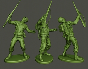 American soldier ww2 Shooted A1 3D printable model
