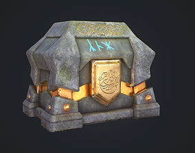 Fantasy chest 3D model