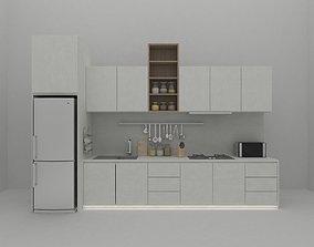 minimalist 3D model kitchen cabinet