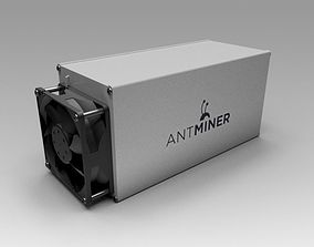 bitcoin 3D model Antminer