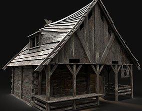 MEDIEVAL SHOP STALL FANTASY MARKET BUILDING 3D asset 3
