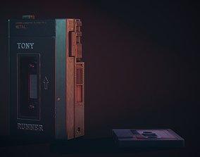 Vintage Old 1980s Cassette Player VR / AR ready