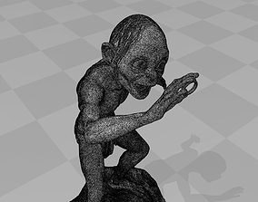 Gollum Model for print art