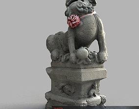 Lion-statue-014M 3D asset