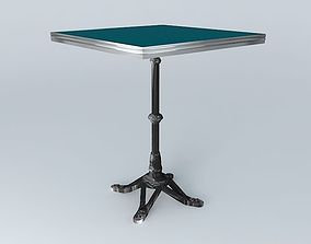 3D model blue BISTRO TABLE SQUARE ARDAMEZ Company