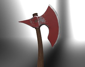 Battle Axe for Game 3D asset game-ready