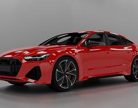 Audi rs7 2020 C8 Colored Texture 3D blend fbx dae obj 1