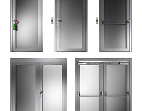 Metal swing fire doors 3D ecape