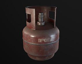 industrial 3D model realtime Gas Cylinder