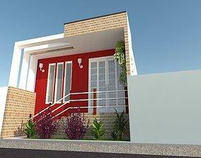 3D Projeto Fachada Casa Residencial
