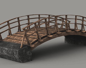 game-ready Wooden Bridge Low-poly Game-ready 3D model