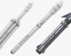 SpaceX Rockets Collection 3D
