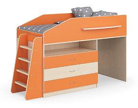 3D model Legenda K12 with LP12 childrens modular bed