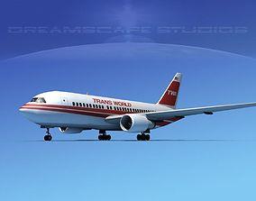Boeing 767-200ER Trans World 1 3D
