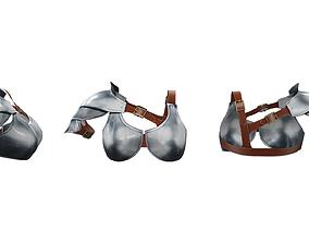 Metal Bra and Shoulder Shield 3D model
