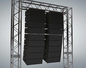 3D Line Array Concert Sound Speaker System Scaffolding 1