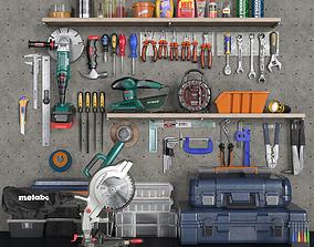 grinder garage tools set 2 3D asset