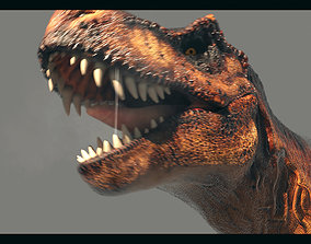 3D model animated VR / AR ready Tyrannosaurus 1