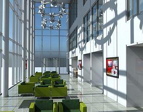 3D Office Entrance Reception