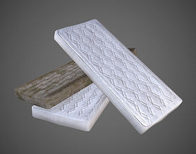 3D model Mattress Low Poly - Clean and Dirty