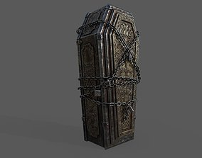 3D asset VR / AR ready Bloodborne Style Coffin