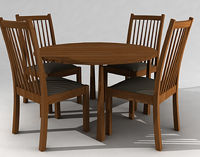 3D model Chairs and Table appartment