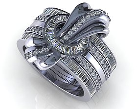 Wedding Ring R015 3D print model