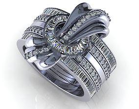 Wedding Ring R015 3D print model