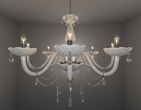 3D White Crystal Chandelier
