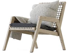 3D asset Teaka armchair