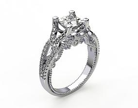 Engagement Ring wedding 3D printable model