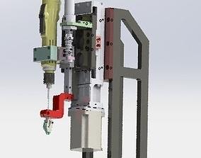 3D model The locking screw mechanism