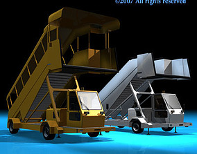 Airport stairs vehicle 3D