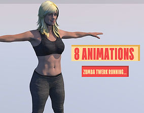 3D FITNESS GIRL WITH 8 SPORTS AND TWERK ANIMATIONS