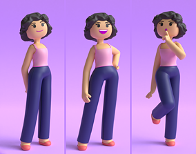 Minimal Character Women 3D